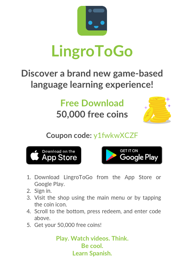 Get 50,000 Free Coins on LingroToGo! – LingroLearning
